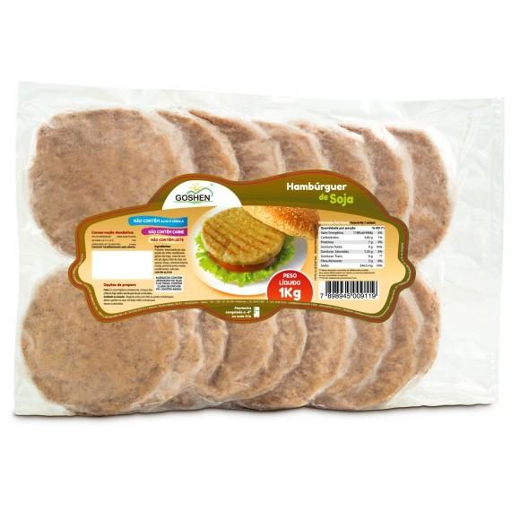 Hamburguer de Soja 1kg - Goshen