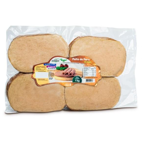 Peito de Peru de Soja Fatiado 1kg - Goshen