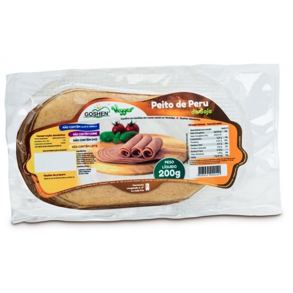 Peito de Peru de Soja Fatiado 200g - Goshen